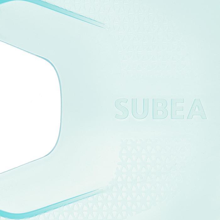 兒童款浮潛可調式蛙鞋 SNK 100-淺碧藍色