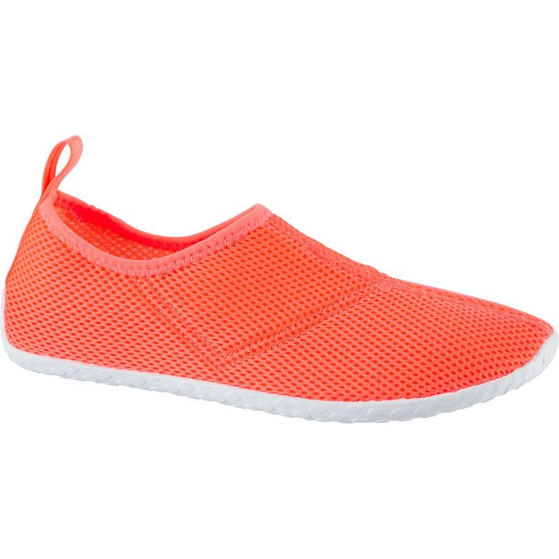 Waterschoenen voor volwassenen Aquashoes 100 koraal