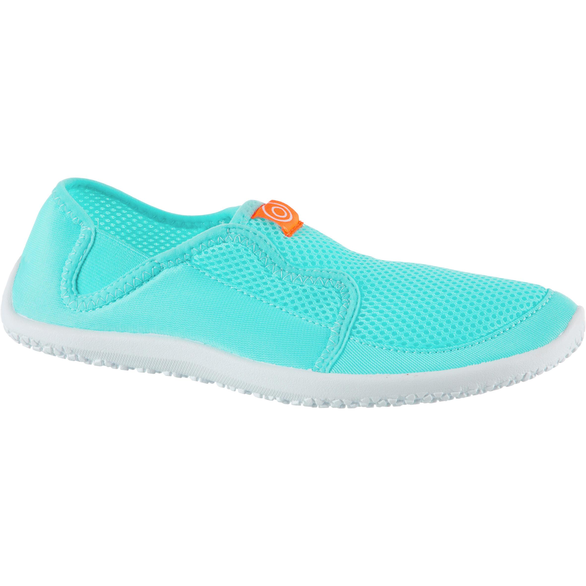 Aquashoes chaussures aquatiques 120 adulte turquoises claires - Subea