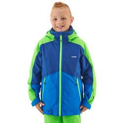 Skijacke 580 Kinder blau/neongrün
