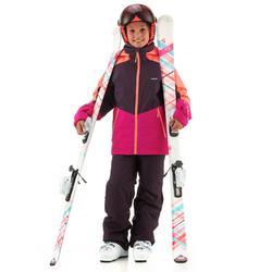 Ski-jas voor kinderen 580 roze/paars/koraalrood