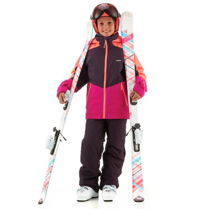 Skijacke Piste 580 Kinder rosa/violett/koralle