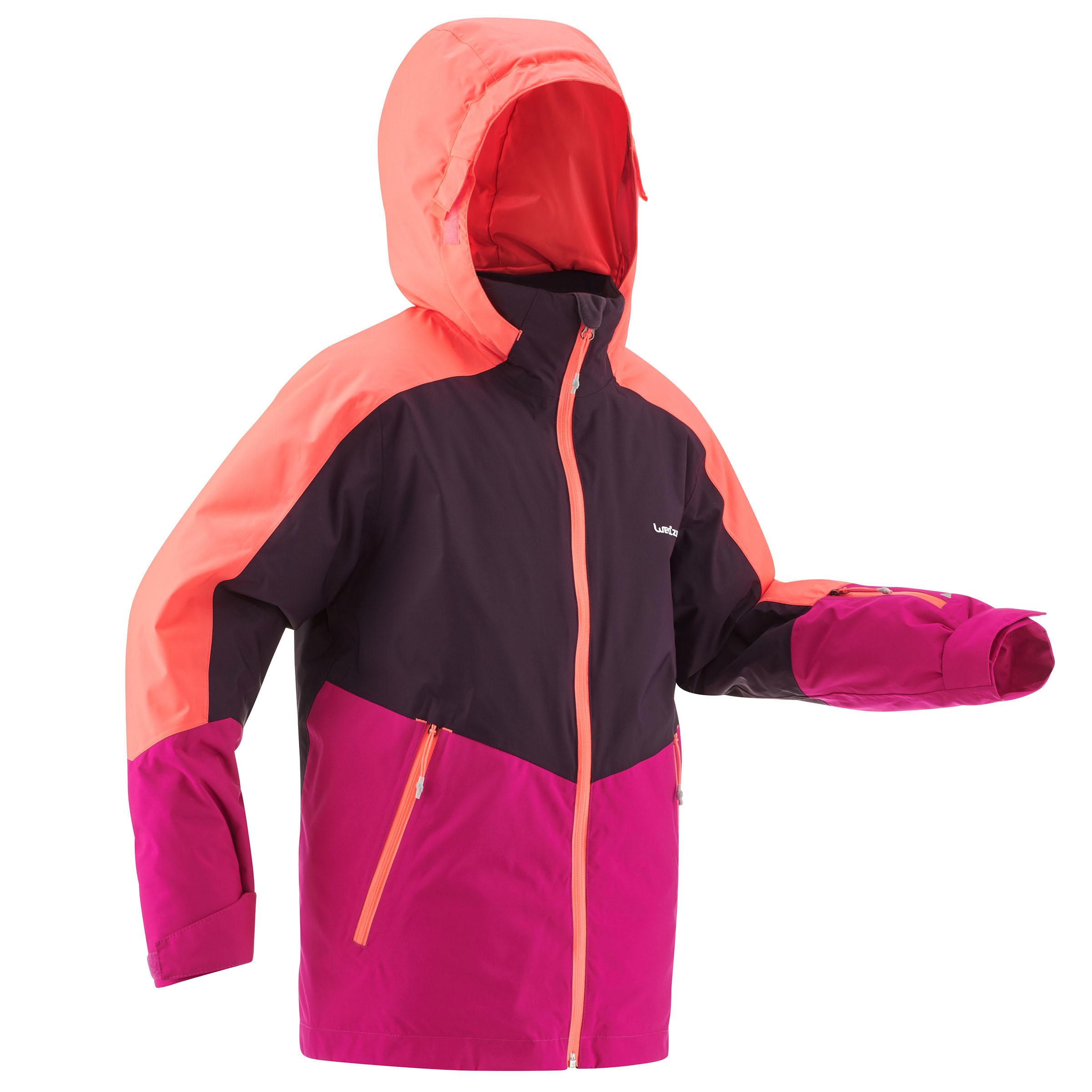 Wed'ze Ski-jas voor kinderen SKI-P JKT 580 roze en paars