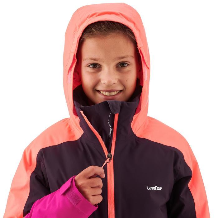 Skijacke Piste 580 Kinder rosa/violett