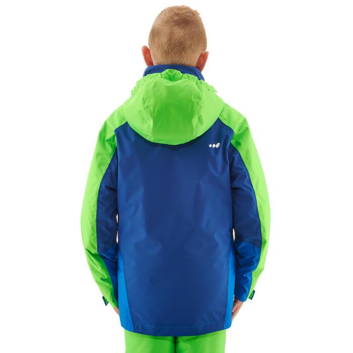 Ski-jas voor kinderen 580 blauw/fluogroen