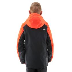 Skijacke 580 Kinder schwarz/neonorange