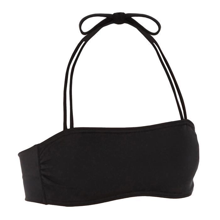 Bikini-Oberteil Bandeau Laura herausnehmbare Formschalen Damen schwarz
