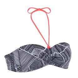 Bikini-Oberteil Bandeau Laeti Tribu angenähte Formschalen Damen