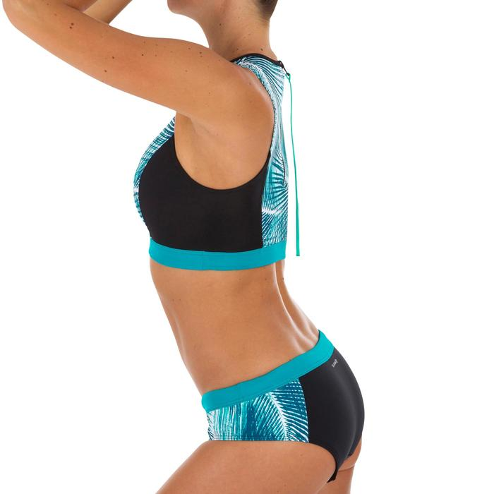 decbc0bae465 Braga Bikini Surf Brasileña Olaian Vali Bondi Mujer Estampado Flores Azul  Negro