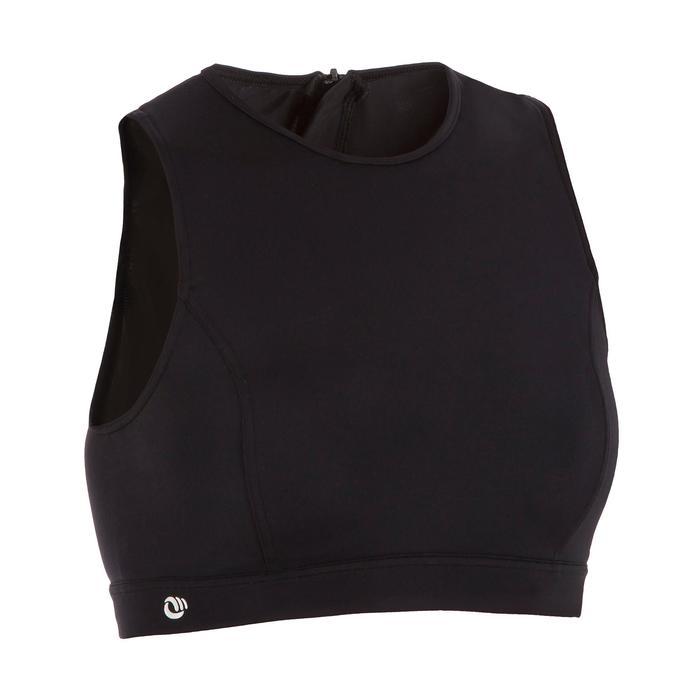 Bikini-Oberteil Bustier Carla mit Back Zip Damen schwarz
