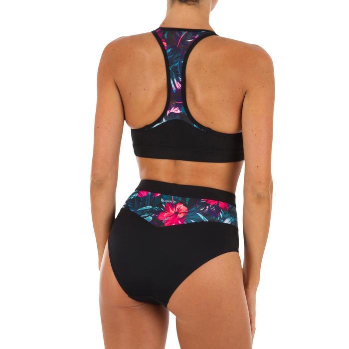 0604597b68f7 Braga Bikini Culotte Surf Talle Alto Olaian Mujer Elástico Cintura Negro  Rosa