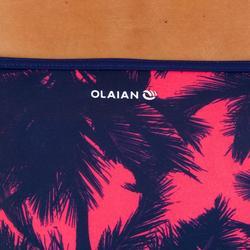 Braga Bikini Surf Ancha Olaian Nina Mujer Clásica Estampado Palmeras Rosa Azúl