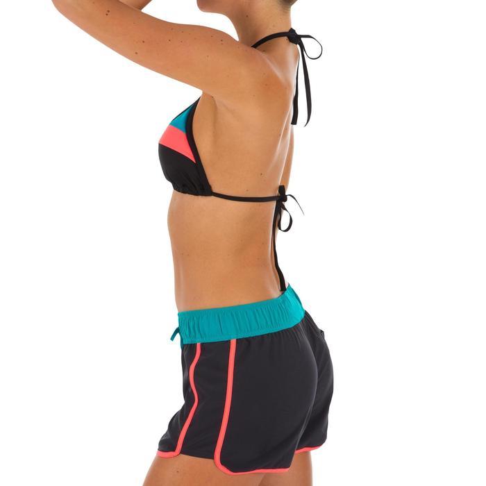 Boardshort mujer TINI COLORBLOCK con cintura elástica y cordón de ajuste.