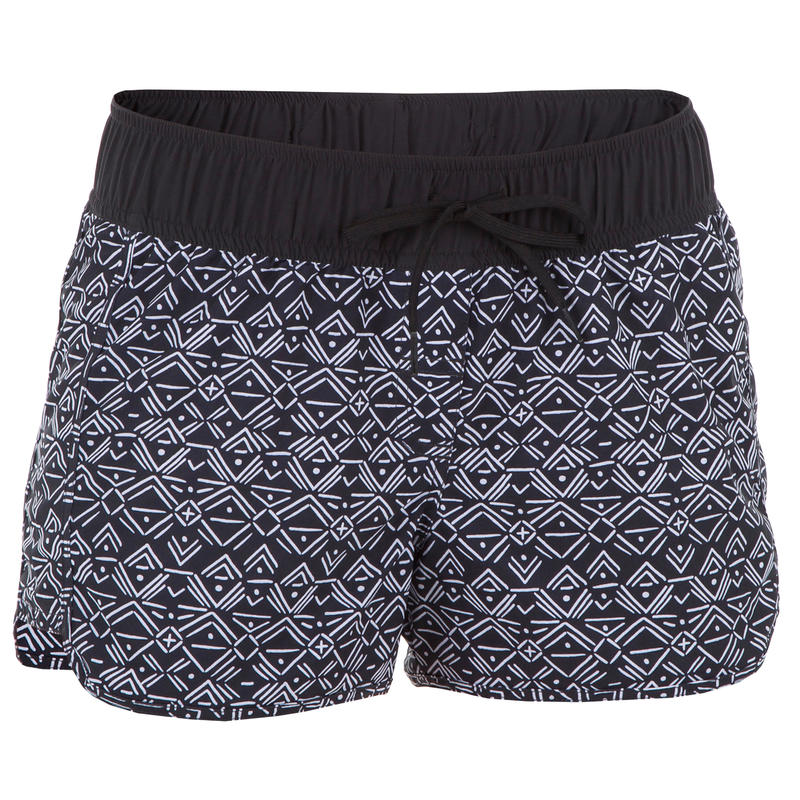 Women's boardshorts with elastic waistband and drawstring TINI ETHNI