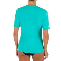 UV-Shirt Surf-Shirt kurzarm Damen türkis