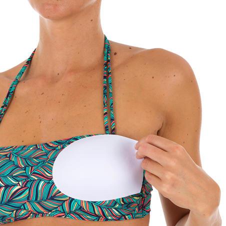 Top Bikini Surf Palabra de Honor Olaian Laura Mujer Bandeau Copas Azul Dorado