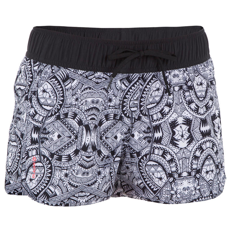 Women's Boardshorts with Elasticated Waistband and Drawstring TINI MAORI