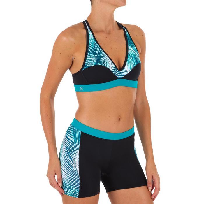 Top Bikini Surf Sujetador Deportivo Espalda Olaian Ana Mujer Azul Selva