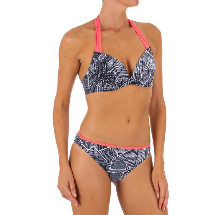 Braga Bikini Surf Ancha Olaian Nina Mujer Clásica Estampado Tribal Negro