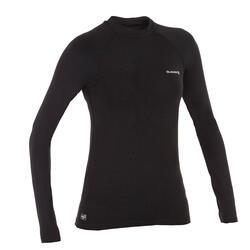 女款抗UV衝浪長袖T恤-黑色