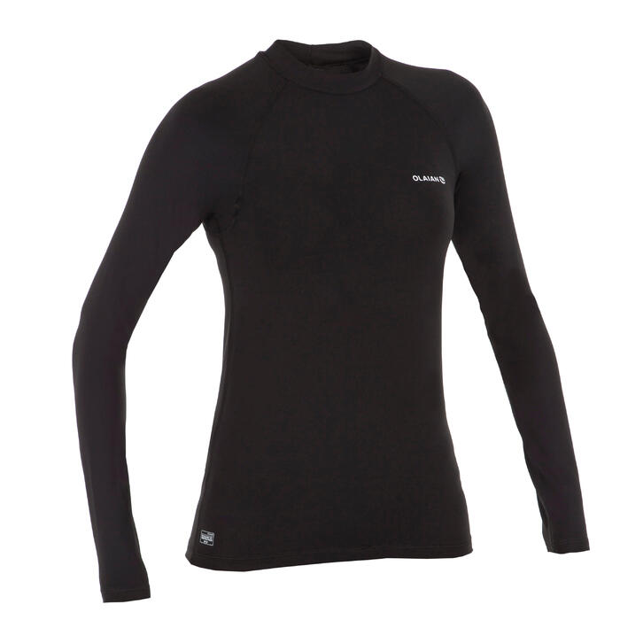 Women's Long Sleeve UV-resistant Surfing T-Shirt black