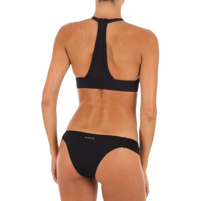 Sujetador bikini mujer forma top de surf con espalda ultra descubierta ISA NEGRO