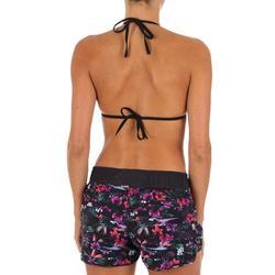 Boardshort de surf mujer TINI DECIM con cintura elástica y cordón de ajuste.