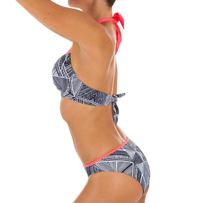 Top Bikini Surf Sujetador Push Up Olaian Elena Mujer Copas Fijas Negro Tribal