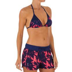 Top Bikini Triangulos Corredizos Olaian Mae Pad Mujer Copas Desmontables Palmera