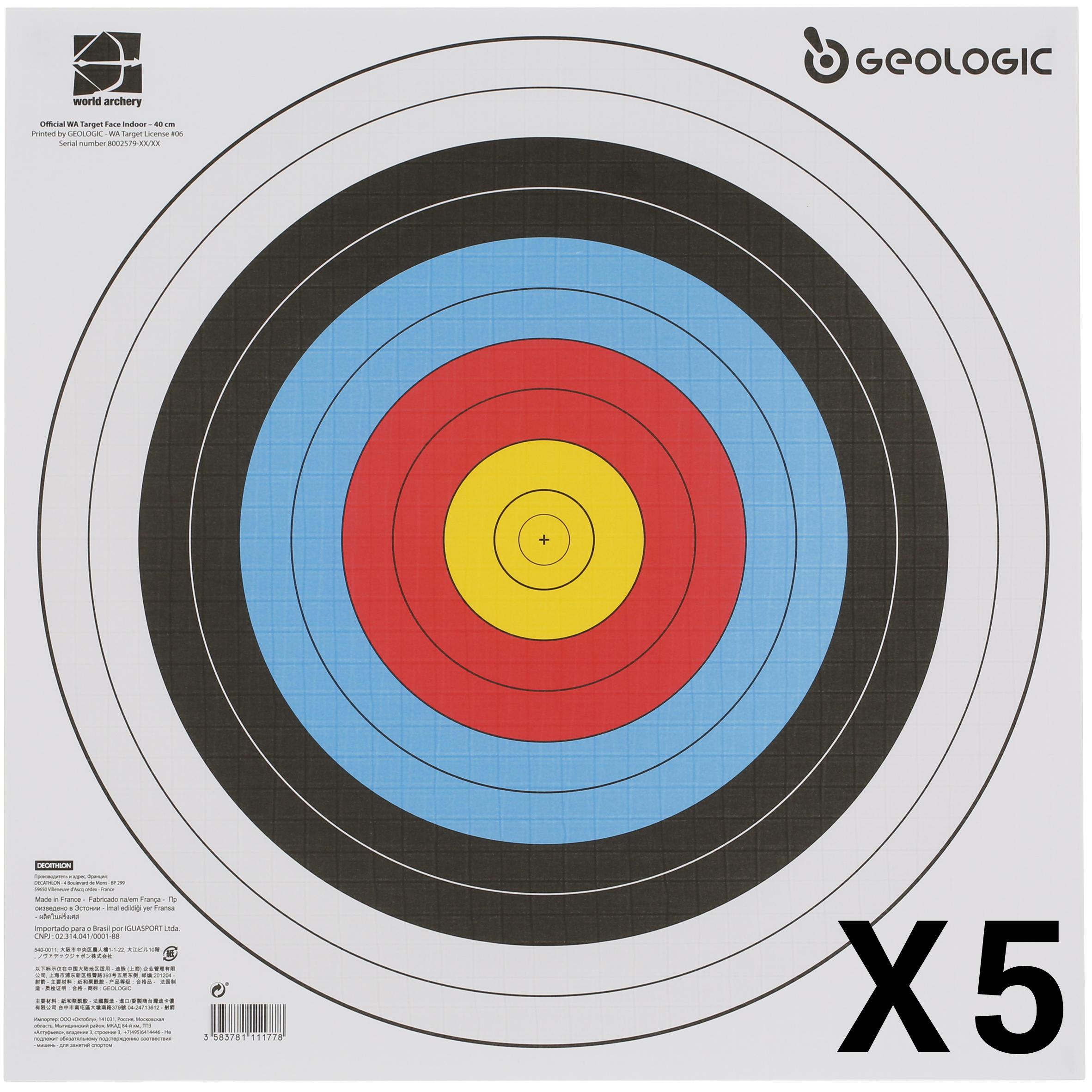 5 BLANCOS TIRO CON ARCO 40X40