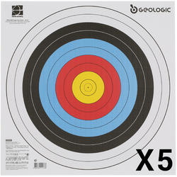 5 BLASONS TIR À L'ARC 40 X 40