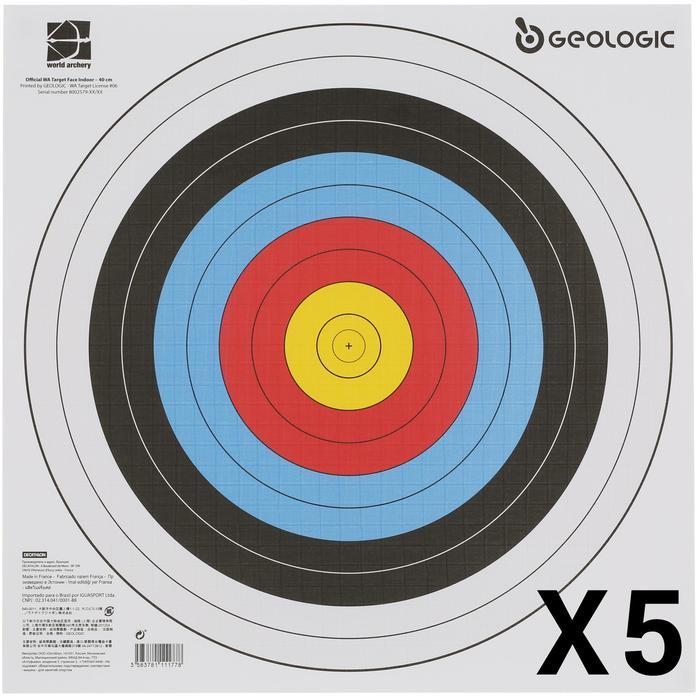 5 BLASONS TIR A L'ARC 40X40