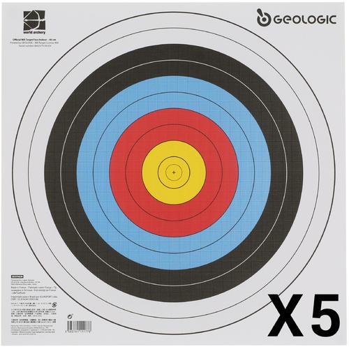 LOT DE 5 BLASONS TIR A L'ARC 40X40 cm