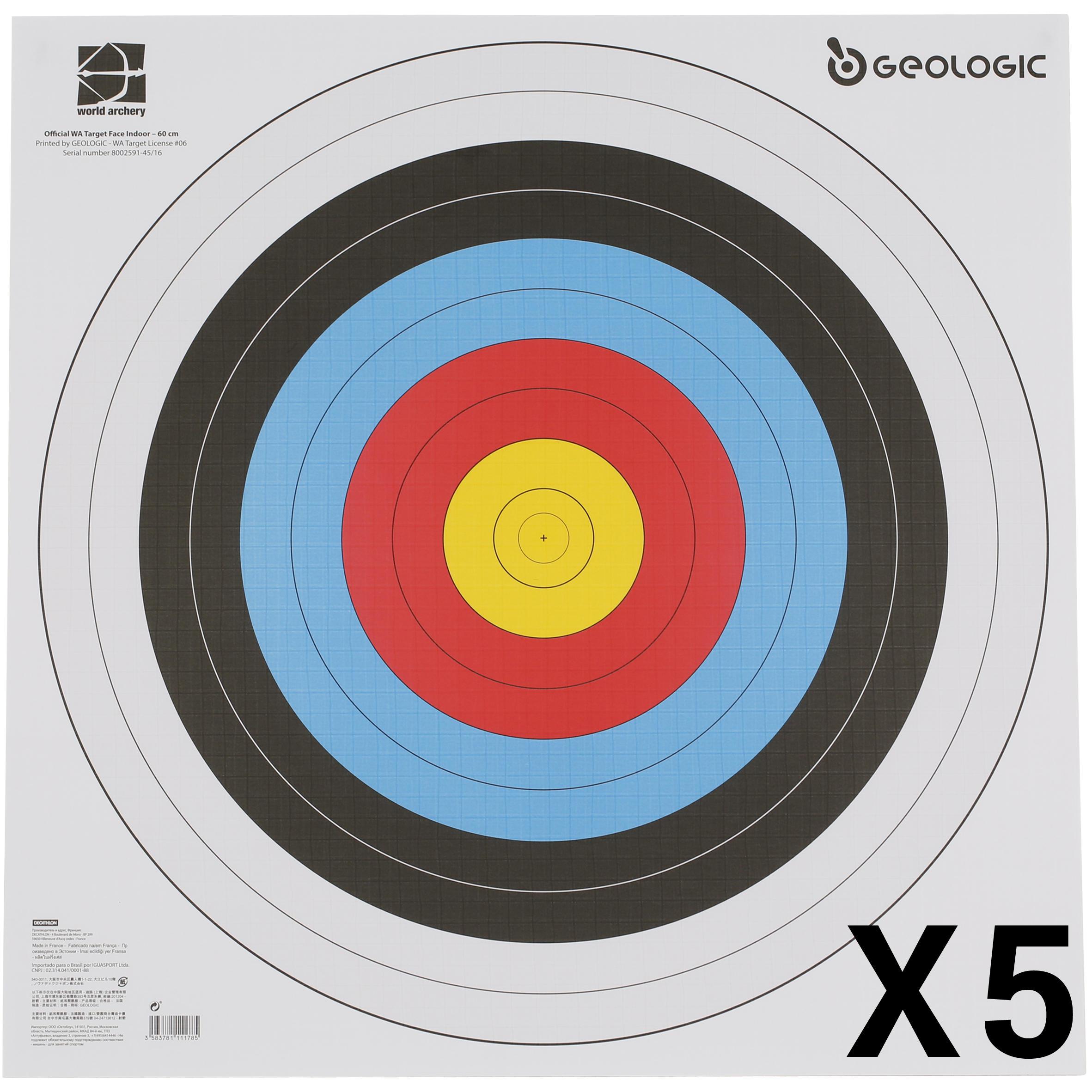 5 BLANCOS TIRO CON ARCO 60 X60