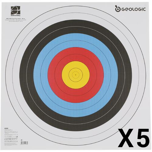 LOT DE 5 BLASONS TIR A L'ARC 60 X60 cm