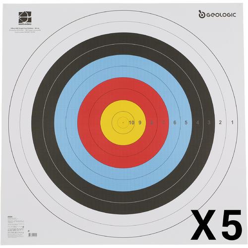 LOT DE 5 BLASONS TIR A L'ARC 80X80 cm