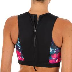 High neck bikinitop met back zip Carla Foamy