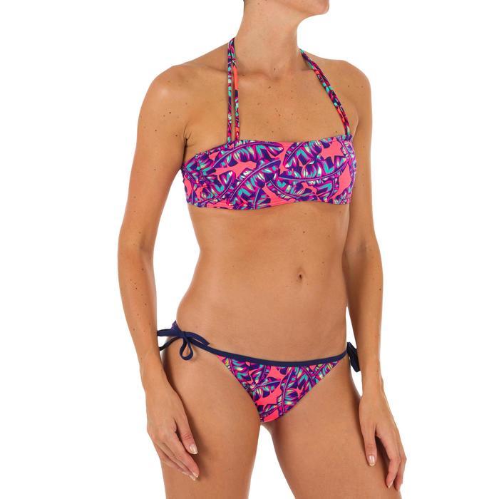 Top Bikini Surf Palabra de Honor Olaian Laura Mujer Bandeau Copas Rojo Fluor