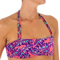 Haut de maillot de bain bandeau LAURA DOMI avec coques amovibles