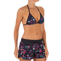 WOMEN'S SLIDING TRIANGLE SWIMSUIT TOP WITH REMOVABLE PADDED CUPS MAE DECIM