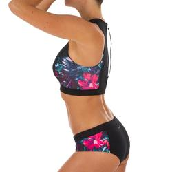 Bikini-Oberteil Bustier Carla Foamy mit Back Zip Surfen Damen