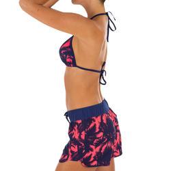 Short de bain femme TINI POLY avec ceinture élastique et cordon de serrage