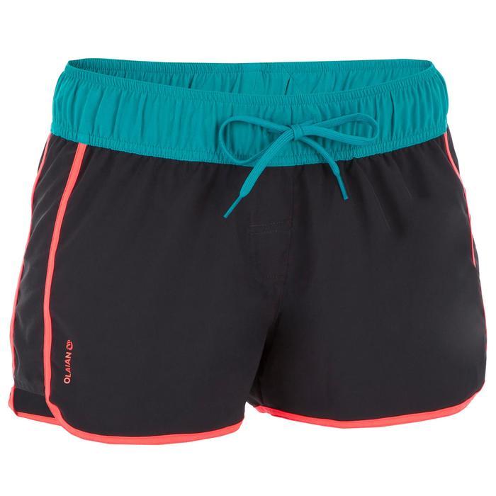 Boardshort voor dames Tini Colorblock met elastische riem en aantrekkoordje