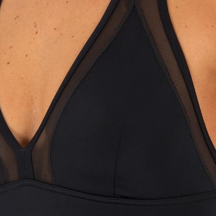c51f116ff Bañador Deportivo Surf Olaian Isa Mujer Espalda X Efecto Transparencias  Negro