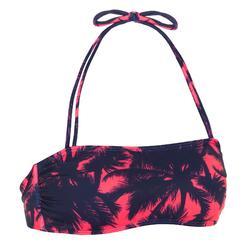 女款平口泳衣(可拆式襯墊罩杯)LAURA-椰子樹款