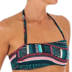 Sujetador de bikini forma banda con copas desmontables LAURA VILA