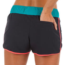 Women's boardshorts with elastic waistband and drawstring TINI COLORBLOCK