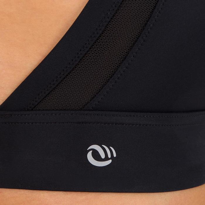 Topje voor surfbikini Isa zwart met heel open rug
