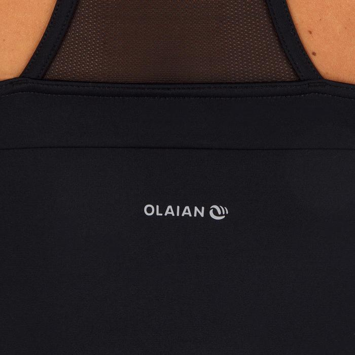 Badpak met gekruiste rug Isa zwart