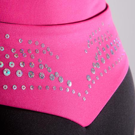 Girls' Artistic Gymnastics Shorts - Pink Sequin Waistband